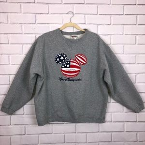 WALT DISNEY WORLD l Mickey Crewneck Sweatshirt XL
